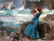 Poster Premium  Miranda e la tempesta - John William Waterhouse