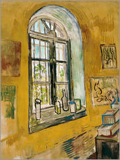 Stampa su plexi-alluminio  Window in the Studio - Vincent van Gogh