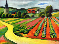 Adesivo murale Landscape with Church and path