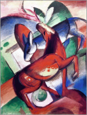 Poster Premium  Horse and donkey - Franz Marc