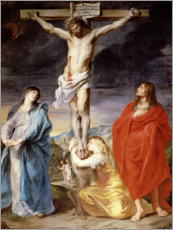 Stampa su plexi-alluminio  Christ on the Cross with the Virgin, St. John and Mary Magd - Anthonis van Dyck
