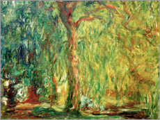 Stampa su alluminio  Weeping willow - Claude Monet