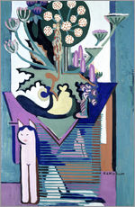 Adesivo murale  Meadow Flower with cat - Ernst Ludwig Kirchner