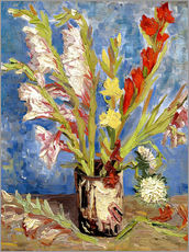 Adesivo murale  Vase with gladioli and China asters - Vincent van Gogh