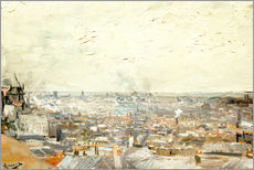 Adesivo murale  Roofs of Paris from Montmartre - Vincent van Gogh