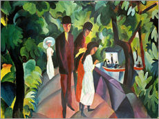 Stampa su plexi-alluminio  Stroll on the Bridge - August Macke