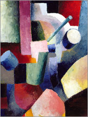 Adesivo murale  Coloured Composition of Forms - August Macke