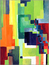 Stampa su plexi-alluminio  Coloured Shapes II - August Macke