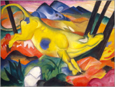 Adesivi murali  The yellow cow - Franz Marc