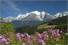 Stampa su plexi-alluminio  View from the village Cordon to Mont Blanc Massif, France - Frauke Scholz
