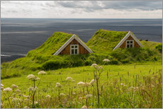 Adesivo murale  Traditional Houses in the Skaftafell National Park, Iceland - Markus Ulrich