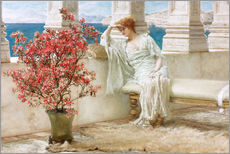 Stampa su plexi-alluminio  Her eyes are with her thoughts and they are far away - Lawrence Alma-Tadema