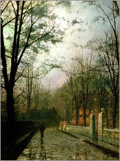 Adesivo murale  After the Shower - John Atkinson Grimshaw