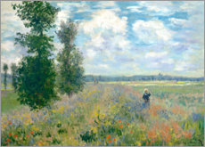 Legno  The Poppy field - Claude Monet