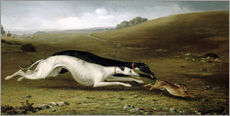 Adesivo murale  Hare Coursing in a Landscape, 1870 - John Fitz Marshall