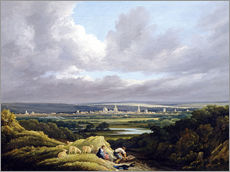 Adesivo murale  View of Oxford from a Distance - Joseph Mallord William Turner