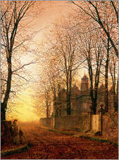 Stampa su plexi-alluminio  In the Golden Olden Time, c.1870 - John Atkinson Grimshaw