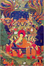 Adesivo murale  Thangka of Parinirvana of the Buddha - Tibetan School