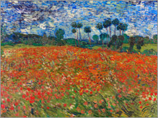 Stampa su legno  Field of Poppies, Auvers-sur-Oise - Vincent van Gogh