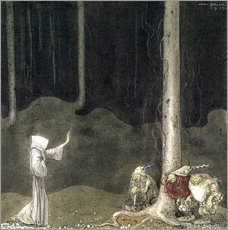 Adesivo murale  Brother St. Martin and the Three Trolls - John Bauer