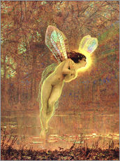 Adesivo murale  Iris, detail of the fairy - John Atkinson Grimshaw