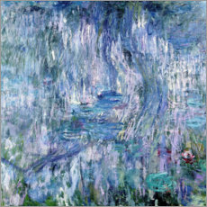 Poster Premium Waterlilies and Reflections of a Willow Tree, 1916-19