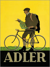 Adesivo murale  Adler Bicycles - Advertising Collection