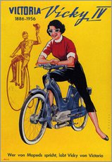 Stampa su plexi-alluminio  Who's talking about mopeds, praises Vicky Victoria - Advertising Collection
