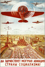 Adesivo murale  Aircraft parade on Moscow - Advertising Collection