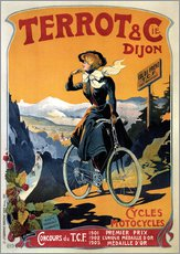 Stampa su plexi-alluminio  Terrot & Cie Dijon bicycles and motorcycles - Advertising Collection