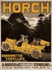 Adesivo murale  Horch cars - Golly impeccable - Advertising Collection