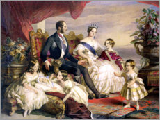 Adesivi murali  Queen Victoria and Prince Albert with Five of the Their Children - Franz Xaver Winterhalter