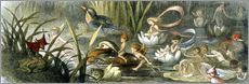 Stampa su plexi-alluminio  Water-Lilies and Water Fairies - Richard Doyle