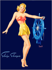 Adesivo murale  Pin Up - Ship Shape - Al Buell