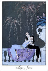 Stampa su plexi-alluminio  The Fire - Georges Barbier