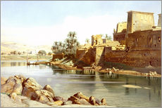 Adesivo murale  Temple of Isis at Philae - Carl Friedrich Heinrich Werner