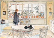 Adesivi murali  Flowers on the Windowsill - Carl Larsson