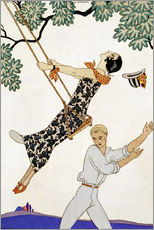Adesivo murale  The Swing, 1920s - Georges Barbier