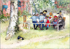 Adesivi murali  Breakfast under the Big Birch - Carl Larsson
