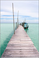 Adesivo murale  Wooden jetty on tropical exotic island - Alejandro Moreno de Carlos