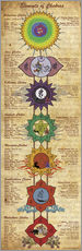 Adesivo murale  Elements of Chakras Yoga Poster - Sharma Satyakam