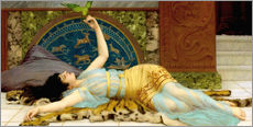 Stampa su plexi-alluminio  The sweet idleness (Dolce Far Niente) - John William Godward