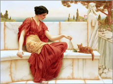 Adesivo murale  La dispettosa (La preferita) - John William Godward