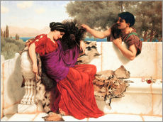 Adesivo murale  The Old Old Story - John William Godward
