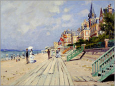 Stampa su plexi-alluminio  the beach at trouville - Claude Monet