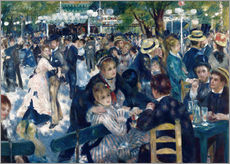 Stampa su plexi-alluminio  Ball at the Moulin de la Galette - Pierre-Auguste Renoir