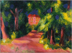 Adesivo murale The red house at the park