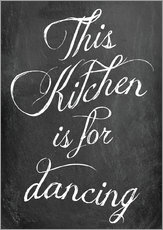 Adesivi murali  This kitchen is for dancing - GreenNest