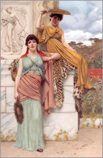 Stampa su plexi-alluminio  Waiting for the procession - John William Godward