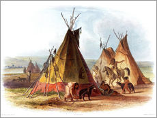 Camp of Native Americans